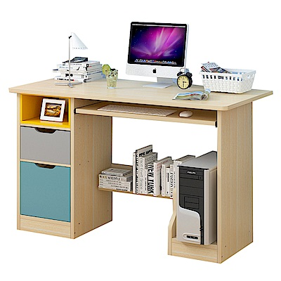 CityShop B2354日式抽屜收納書桌電腦桌-小款