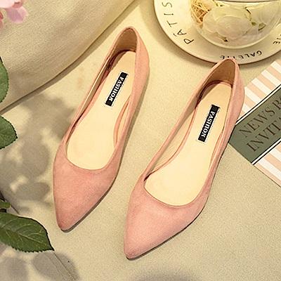 韓國KW美鞋館 破盤價簡約平底鞋-粉色
