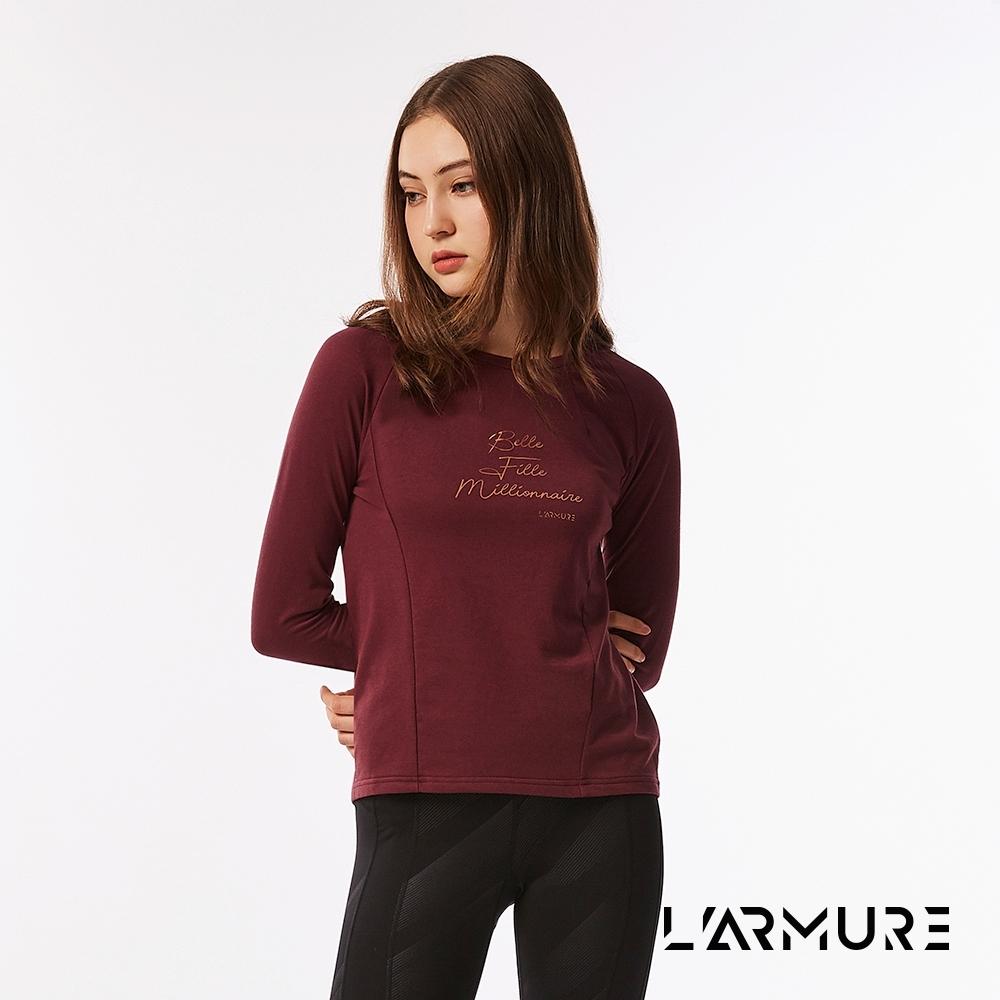 L'ARMURE 女裝 THot 法文 翻玩標語 上衣 (酒紅色)