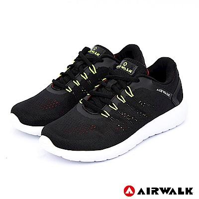 【AIRWALK】活力追夢針織運動鞋-女款-黑色
