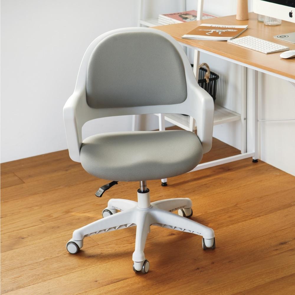 完美主義 韓國製弧形美背電腦椅/辦公椅/書桌椅(2色)-DIY