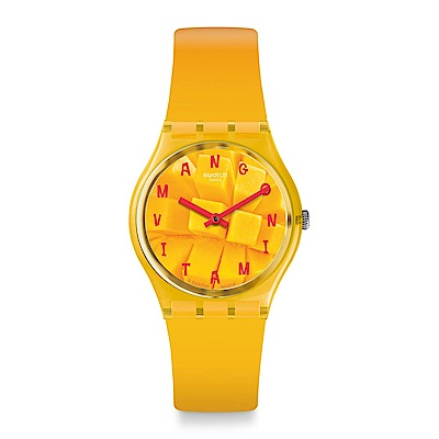 Swatch Energy Boost 系列 COEUR DE MANGUE 夏日芒果手錶