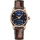 MIDO美度 永恆系列午夜藍 真鑽機械女錶(M76003658)-藍/29mm