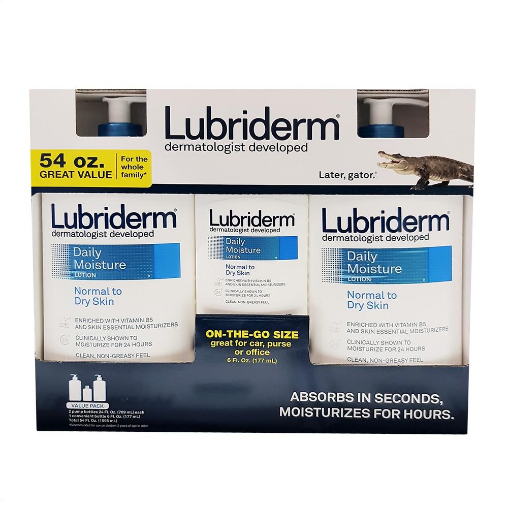 LUBRIDERM 身體滋潤保濕乳液 709ml x 2 + 177ml x 1