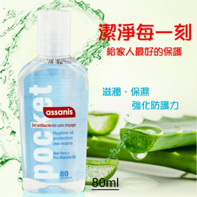 Assanis - 阿薩妮絲 蘆薈保濕乾洗手凝膠 - 80ml