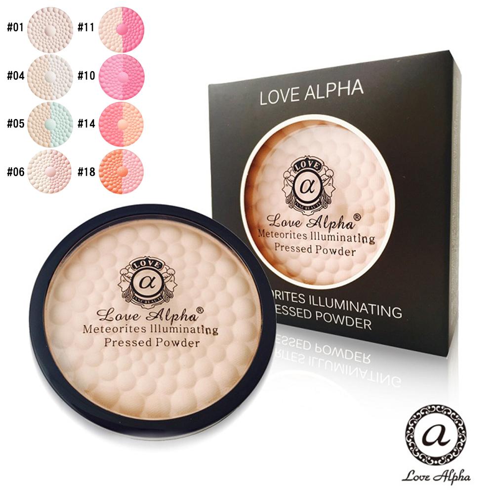 Love Alpha 二合一雙色蘋果光幻彩腮紅蜜粉餅-2盒(款式任選)
