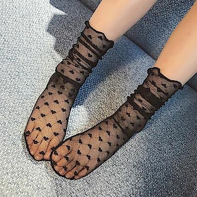 小衣衫童裝  美妞網紗蕾絲堆堆襪1060401
