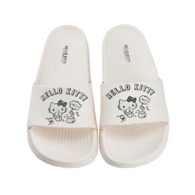 HELLO KITTY艾樂跑女鞋-可愛造型 一片式防水拖鞋-白(918102)