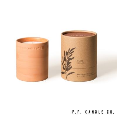 美國 P.F. Candles CO. 植物陶罐系列 橙子橄欖 手工香氛蠟燭 226g