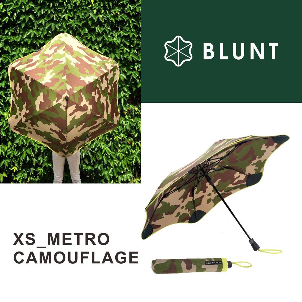BLUNT XS_METRO 迷彩圖騰折傘 糖果黃