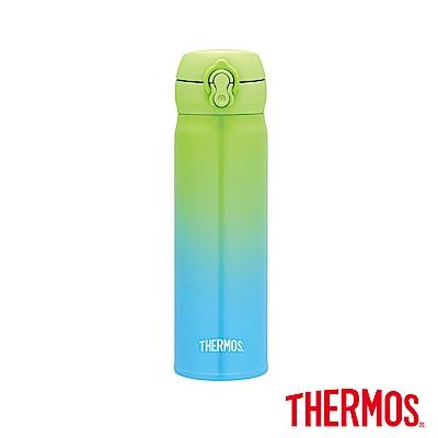 THERMOS膳魔師不鏽鋼真空保溫瓶0.5L(JNL-500)-GGB(青檸海洋藍)