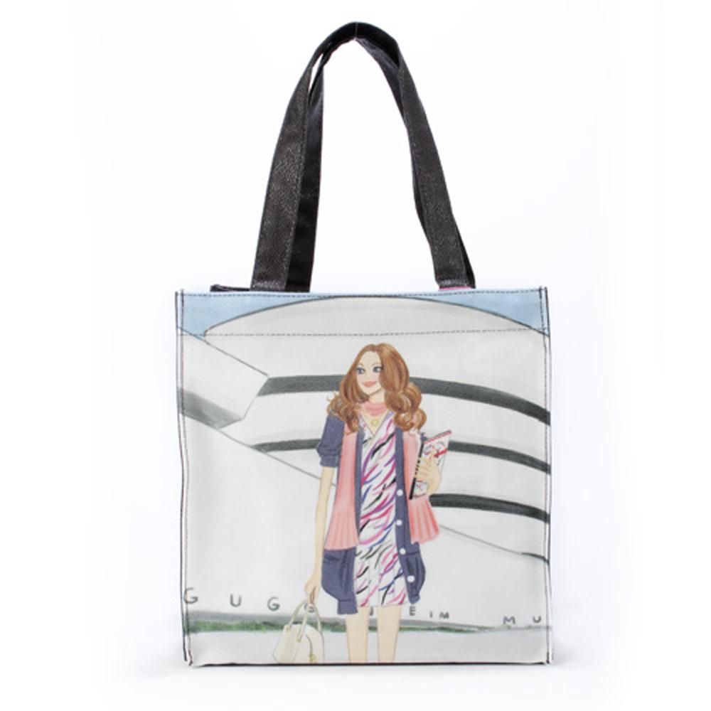 Reiko Aoki青木禮子Museum彩繪手提包-水藍