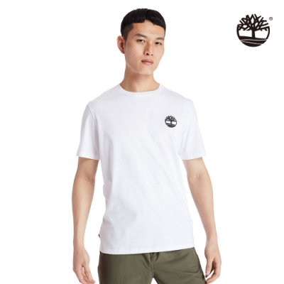 Timberland 男款白色樹型LOGO短袖圓領T恤 A29RX