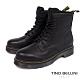 Tino Bellini經典中性牛皮綁帶短靴_黑 product thumbnail 1