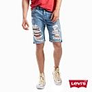 Levis 男款 501 經典排釦牛仔短褲 大破壞 褲管不收邊