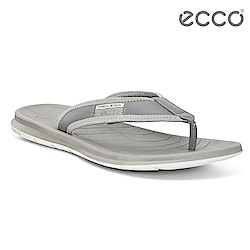 ECCO INTRINSIC TOFFEL 休閒人字拖鞋-灰