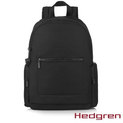 Hedgren INNER CITY戶外旅行 13.3吋RFID後背包 墨黑