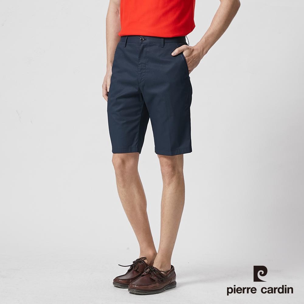 Pierre Cardin皮爾卡登 男裝 彈性印花合身平口短褲--丈青色(5187961-39)