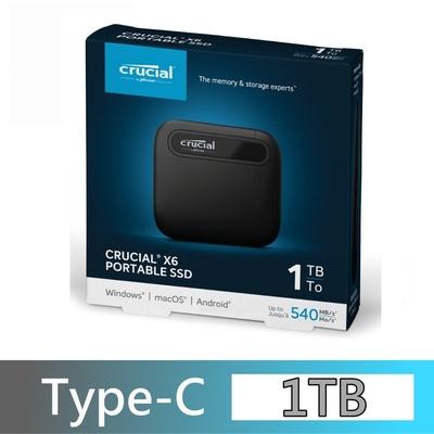 美光 Micron Crucial X6 1TB 外接式 固態硬碟 Portable SSD 1000G