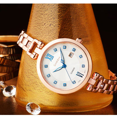 CASIO SHEEN 氣質優雅時尚腕錶(SHE-4055PG-7A)30mm