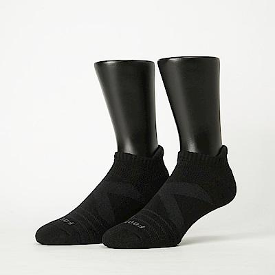 Footer除臭襪-X型減壓經典護足船短襪-六雙入(黑色)