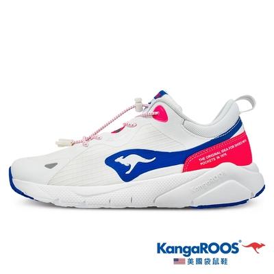 KangaROOS 女 ZEPHYR 防撥水跑鞋(白藍-KW11426)