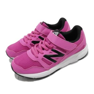 New Balance 慢跑鞋 570 Wide 寬楦 運動 童鞋 紐巴倫 輕量 透氣 舒適 避震 中大童 粉 黑 YT570PWW