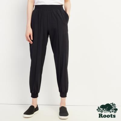 女裝Roots Journey 夏日平織束口褲-黑色