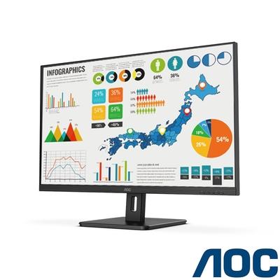AOC U32E2N 32型 4K窄邊廣視角電腦螢幕 內建喇叭 HDR HDMI