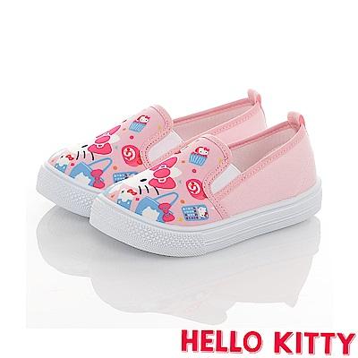 HelloKitty 45周年限量款童鞋 輕量減壓防臭帆布懶人鞋-粉