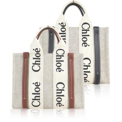 【時時樂限定】Chloé Woody tote bag帆布托特包(小號/任選)