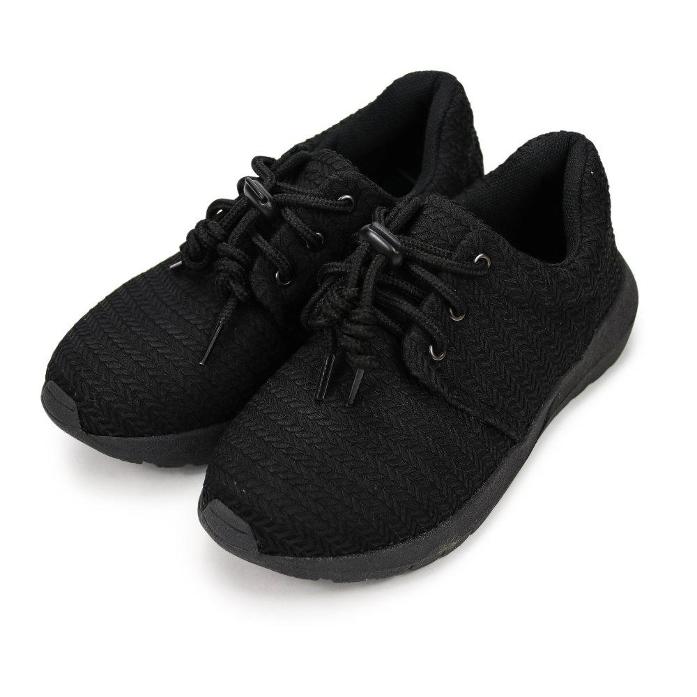 BuyGlasses 舒適麥芽紋元素慢跑鞋-黑