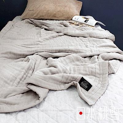 日本桃雪八層紗透氣被(暮色灰)