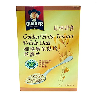 桂格黃金麩片燕麥片(1700g)