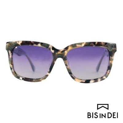 BIS IN DEI 撞色大方框太陽眼鏡-迷彩