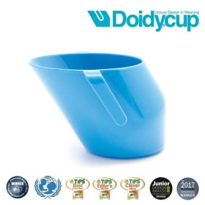 【英國Doidy cup】彩虹學習杯/訓練杯/刷牙杯-英國藍(專利造型設計 喝水看的見)