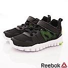 Reebok頂級童鞋  輕量機能避震運動款 TW838黑(中小童段)