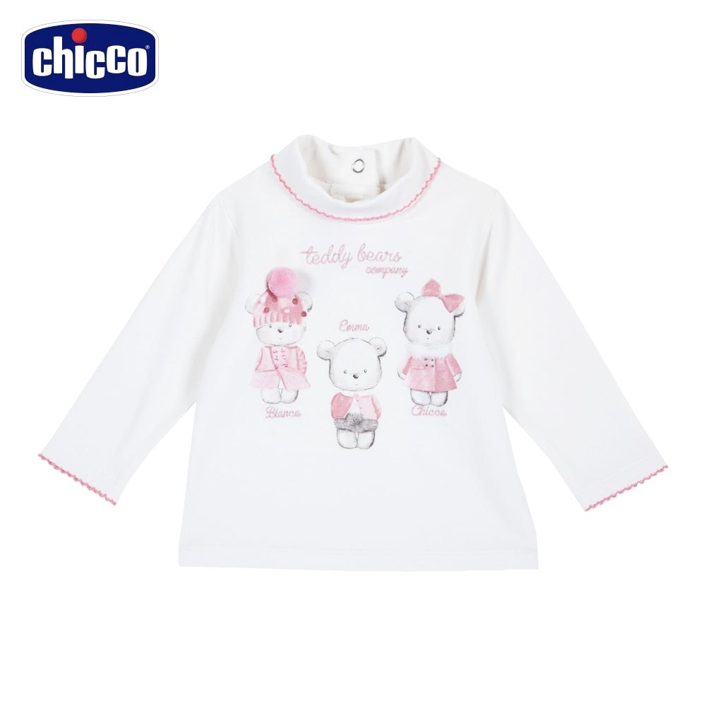 chicco-夢幻艾瑪-熊熊高領長袖上衣