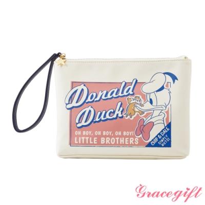 Disney collection by Grace gift-唐老鴨復古圖案手拿包