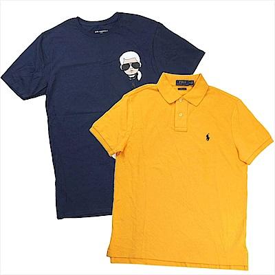 [時時樂]Ralph Lauren短袖Polo衫/Karl卡爾老佛爺短袖T(男女皆宜)