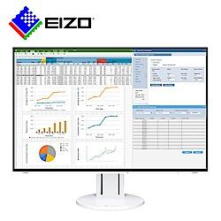 EIZO FlexScan EV2457白色24吋/DP菊花鍊串連/薄邊框/低閃頻護眼