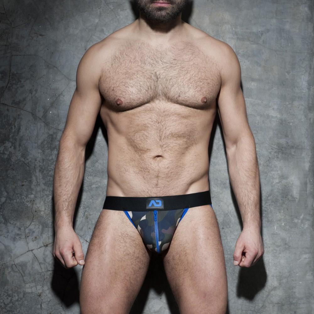 西班牙ADDICTED 迷彩拉鍊式提臀造型內褲(藍)