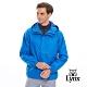 【Lynx Golf】男款防風防水素面連帽長袖薄外套-藍色 product thumbnail 2