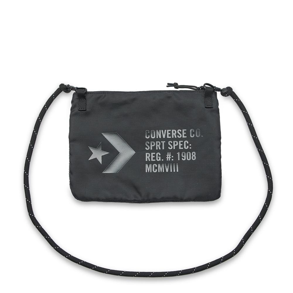 converse 拉鍊小包 網袋 側背 10017708-A01黑色