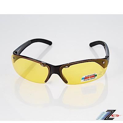【Z-POLS】時尚帥氣設計頂級抗UV400 Polarized寶麗來夜用黃偏光護目眼鏡