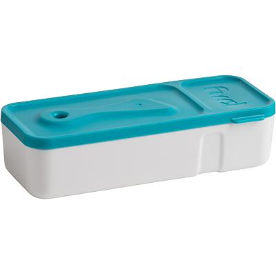 《Trudeau》FUEL迷你雙格便當盒+抹刀(藍)