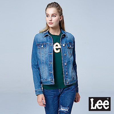 Lee 牛仔外套/RG-中藍色