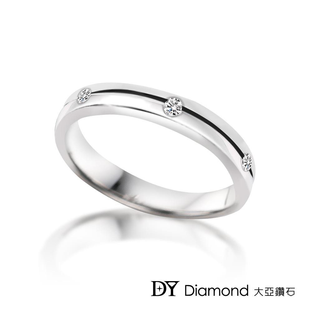 DY Diamond 大亞鑽石 18K金 0.03克拉 時尚造型鑽石線戒