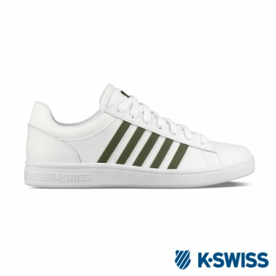K-SWISS Court Winston休閒運動鞋-男-白/墨綠