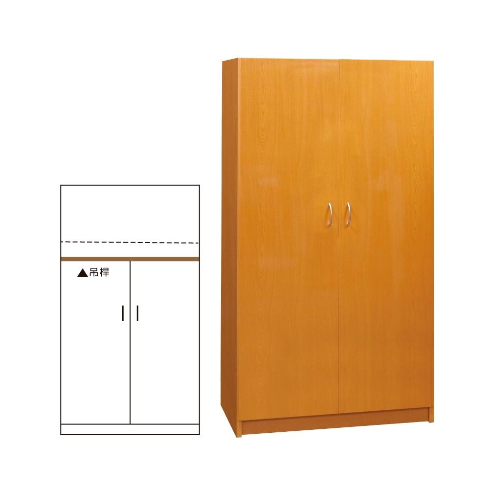 韓菲-木紋塑鋼雙門衣櫃-91x46.5x180cm